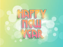 Poster or banner design for Happy New Year 2015 celebration. Royalty Free Stock Photos