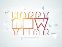 Poster or banner design for Happy New Year 2015 celebration. Stock Photo