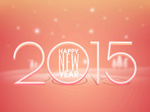 Poster or banner design for Happy New Year 2015 celebration. Happy New Year celebrations poster or banner design with stylish text 2015 on shiny background Royalty Free Stock Image