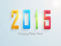 Poster or banner design for Happy New Year 2015 celebration. Colorful 3D text 2015 for Happy New Year celebrations on blue background, can be used as poster or Royalty Free Stock Photography