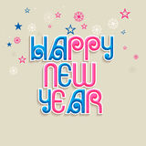 Poster or banner design for Happy New Year 2015 celebration. Poster or banner design with colorful text Happy New Year on snowflakes and stars decorated Royalty Free Stock Photography