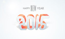 Poster or banner design for Happy New Year 2015 celebration. 3D text 2015 for Happy New Year celebrations, can be used as poster or banner design Stock Photos