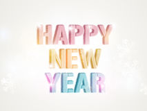 Poster or banner design for Happy New Year 2015 celebration. Royalty Free Stock Image