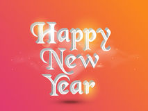 Poster or banner design for Happy New Year 2015 celebration. Shiny 3D text Happy New Year on colorful background, can be used as poster or banner design Royalty Free Stock Photo