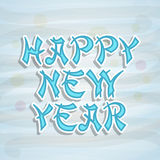 Poster or banner design for Happy New Year 2015 celebration. Stock Images