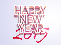 Poster or banner design for Happy New Year 2015 celebration. Stylish text Happy New Year 2015 on purple background, can be used as poster or banner design Stock Images