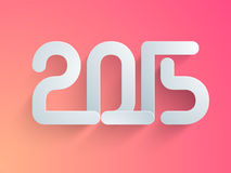 Poster or banner design for Happy New Year 2015. Happy New Year celebrations poster or banner design with stylish text 2015 on pink background Stock Photo