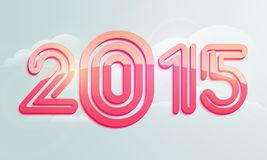 Poster or banner design for Happy New Year 2015. Stylish text 2015 on cloudy background for Happy New Year celebrations, can be used as poster and banner design Stock Photo