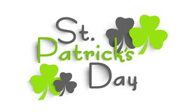Poster or banner design for Happy St. Patrick's Day. Royalty Free Stock Images