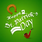 Poster or banner design for Happy St. Patricks Day. Stock Image