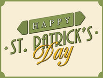 Poster or banner design for Happy St. Patrick's Day. Royalty Free Stock Photos