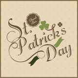 Poster or banner design for Happy St. Patricks Day. Royalty Free Stock Photo