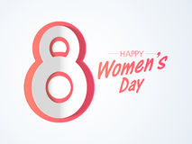 Poster or banner design for Happy Women's Day. Stock Photos