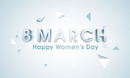 Poster or banner design for Happy Women's Day. Royalty Free Stock Photo