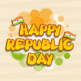 Poster or banner design for Indian Republic Day celebration. Stock Images
