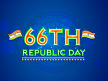 Poster or banner design for Indian Republic Day celebrations. Royalty Free Stock Photography