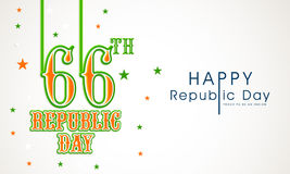 Poster or banner design for Indian Republic Day celebrations. Stock Photos