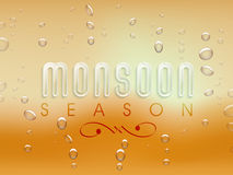 Poster or banner design for Monsoon Season. Stock Photos