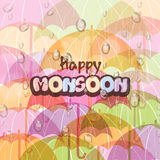 Poster or banner design for Monsoon Season. Royalty Free Stock Images