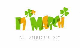 Poster or banner design for St. Patrick's Day celebration. Royalty Free Stock Images