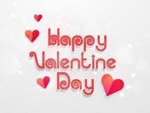 Poster or banner design for Valentine's Day celebration. Royalty Free Stock Images