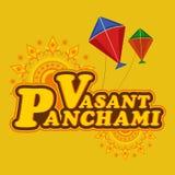 Poster or banner design for Vasant Panchami celebration. Stock Images