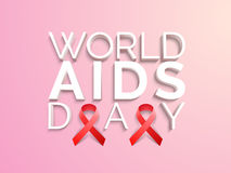 Poster or banner design for World Aids Day. Stock Images