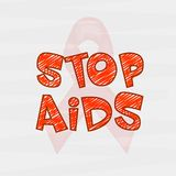 Poster or banner design for World Aids Day. Royalty Free Stock Photos
