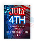 Poster, banner or flyer for American Independence Day. American Independence Day celebration with stylish text July 4th and Statue of Liberty on waving national Stock Photography