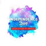 Poster, Banner or Flyer for American Independence Day. Creative Poster, Banner or Flyer design with fireworks for American Independence Day celebration Royalty Free Stock Photos