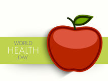 Poster, banner or flyer with apple for World Health Day. Stock Image