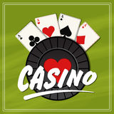 Poster, banner or flyer for Casino. Stock Photos