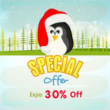 Poster, banner or flyer for Christmas offer. Stock Images