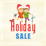 Poster, banner or flyer for Christmas sale. Royalty Free Stock Image