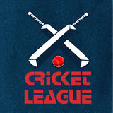 Poster, Banner or Flyer for Cricket League. Royalty Free Stock Photography