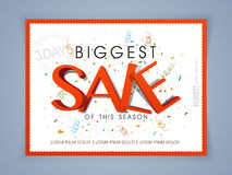 Poster, banner or flyer design for biggest sale. Stock Photos