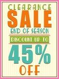Poster, banner or flyer design for Sale. Stock Image
