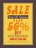Poster, banner or flyer design for Sale. Stock Images