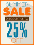 Poster, banner or flyer design for Summer Sale. Stock Photo