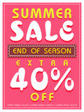 Poster, banner or flyer design for summer sale. Royalty Free Stock Photos