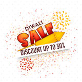 Poster, banner or flyer for Diwali Sale. Royalty Free Stock Photos