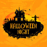 Poster, banner or flyer for Halloween Night. Stock Photo
