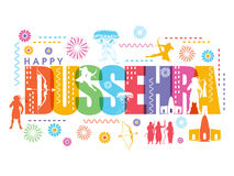 Poster, Banner or Flyer for Happy Dussehra. Royalty Free Stock Photography