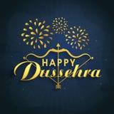 Poster, Banner or Flyer for Happy Dussehra. Stock Image