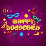 Poster, Banner or Flyer for Happy Dussehra. Royalty Free Stock Photos