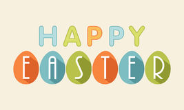 Poster, banner or flyer for Happy Easter celebration. Stock Photo