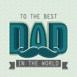 Poster, banner or flyer for Happy Fathers Day. Stock Photography