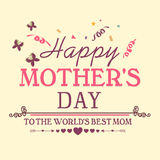 Poster, banner or flyer for Happy Mother's Day. Stock Photography