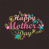 Poster, banner or flyer for Happy Mothers Day. Royalty Free Stock Photography