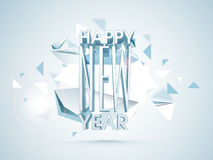 Poster, banner or flyer for Happy New Year celebrations. Stock Photos